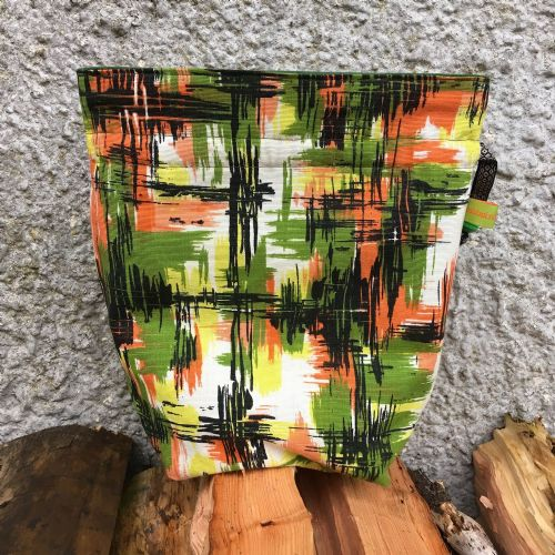 Vintage Fabric Knitting Bag - Jungle